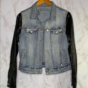 Talula Artizia Harlem Denim Mixed Media Jacket